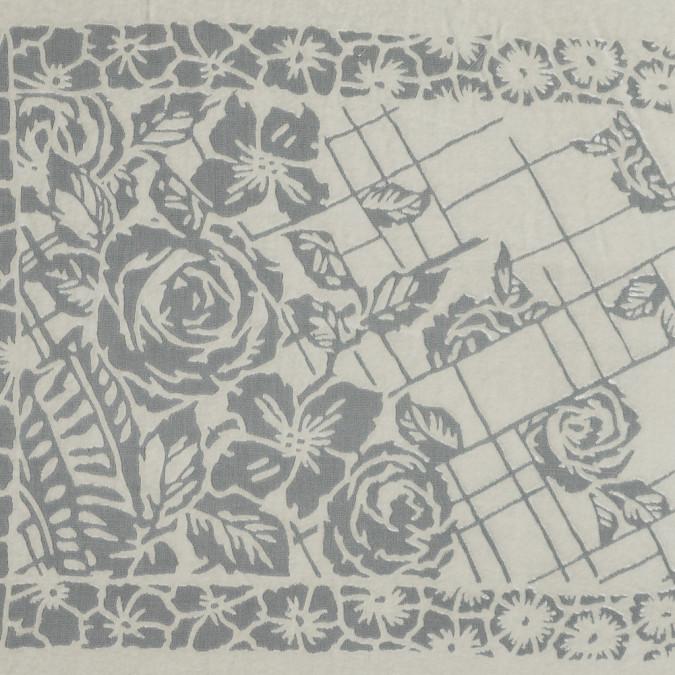 famous nyc designer parchment floral silk and rayon burnout velvet 319284 11