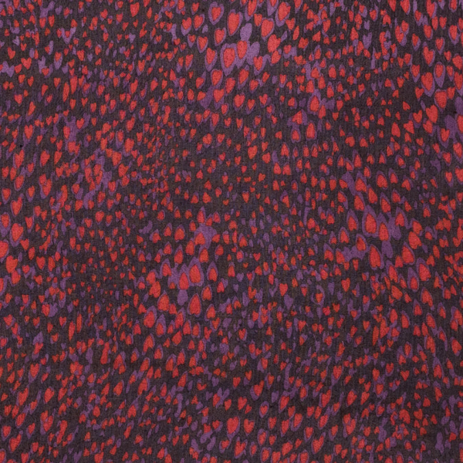famous nyc designer red and purple heart printed crinkled silk chiffon 315364 11