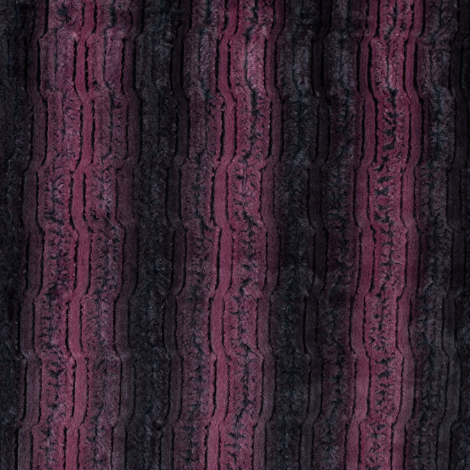 famous nyc designer red plum and black striped faux fur 315111 11