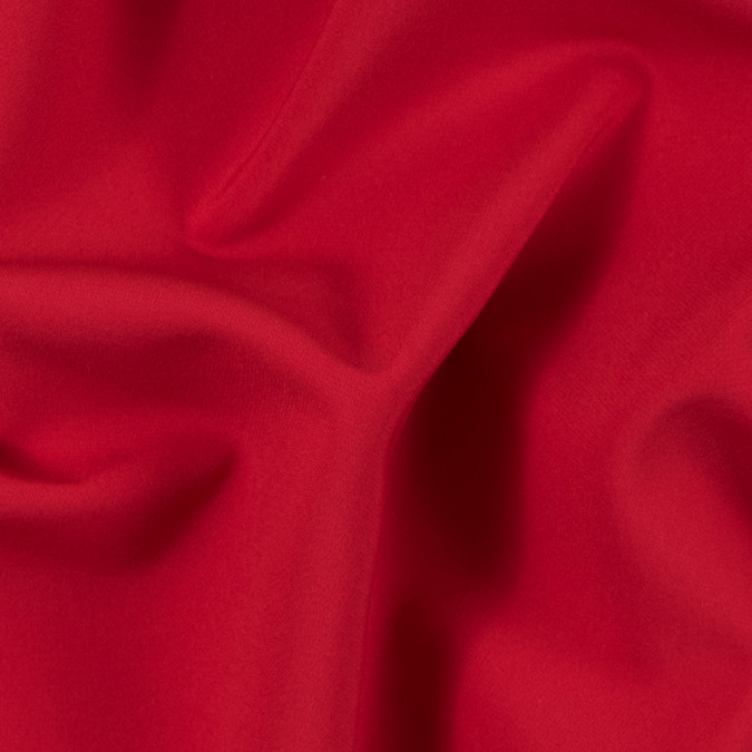 fiery red stretch polyester double cloth 314191 11