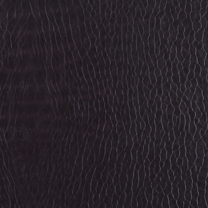 fig pebble embossed stretch faux leather with a black viscose backing 313150 11