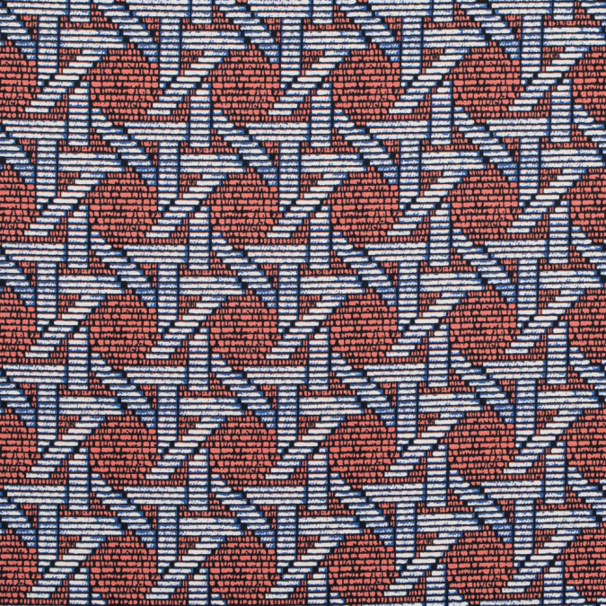 firecracker orange geometric printed stretch cotton sateen 314624 11
