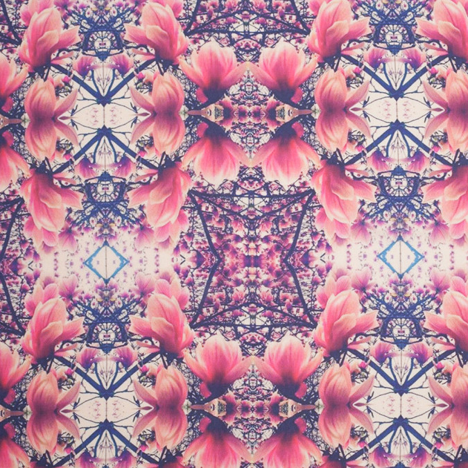 floral kaleidoscope digitally printed polyester charmeuse 307411 11