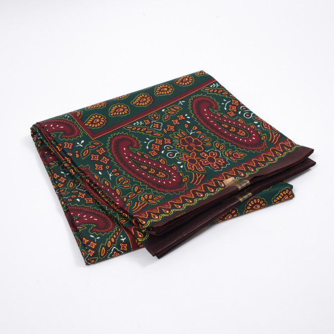forest green and deep red paisley waxed cotton vlisco african print 319561 11