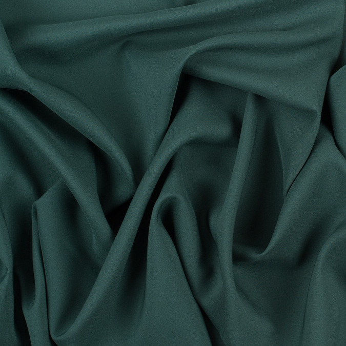 forest green stretch polyester crepe de chine 308778 11