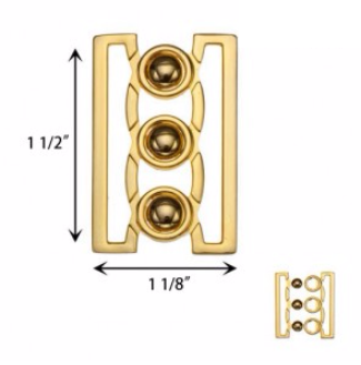 front buckle closure 170427 gold
