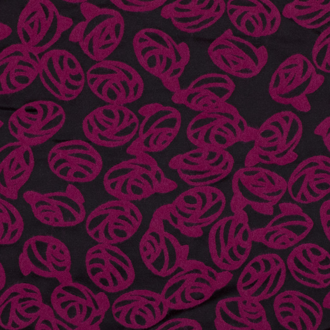 fuchsia and back rose filled sateen faced wool jacquard 318932 11