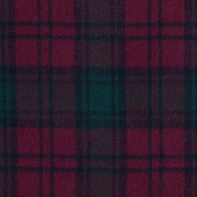 fuchsia and green plaid wool double cloth 317294 11