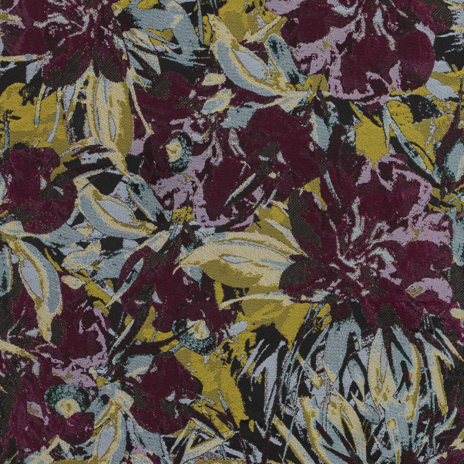 fuchsia and yellow floral jacquard 318330 11