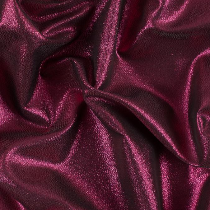 fuchsia black metallic polyester lame 311059 11