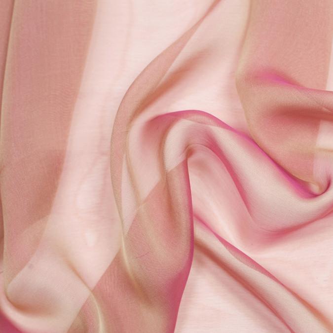 fuchsia pale gold silk iridescent chiffon 104878 11