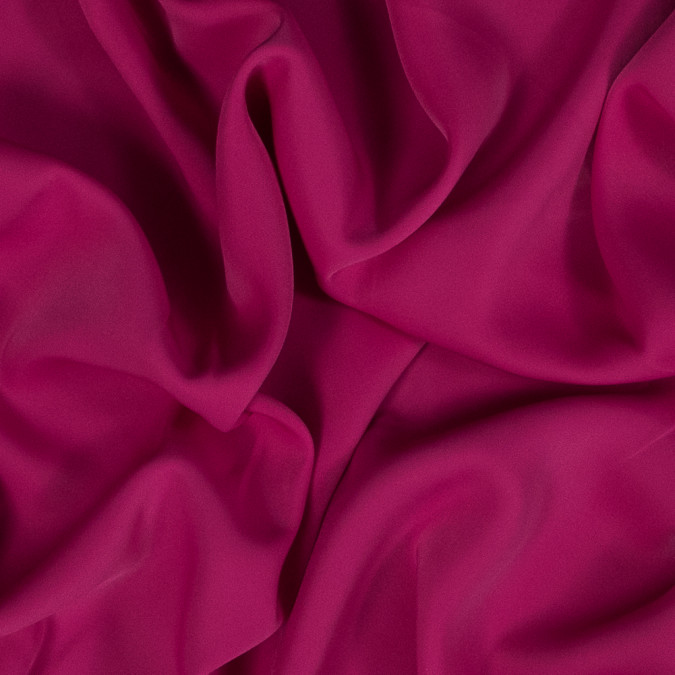 fuchsia red fluid stretch polyester woven 318703 11