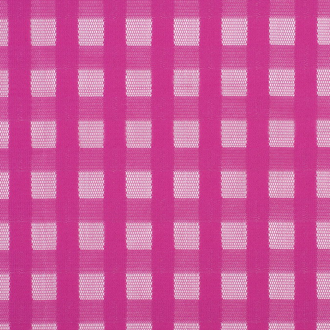 fuchsia red squares polyester mesh netting 308819 11