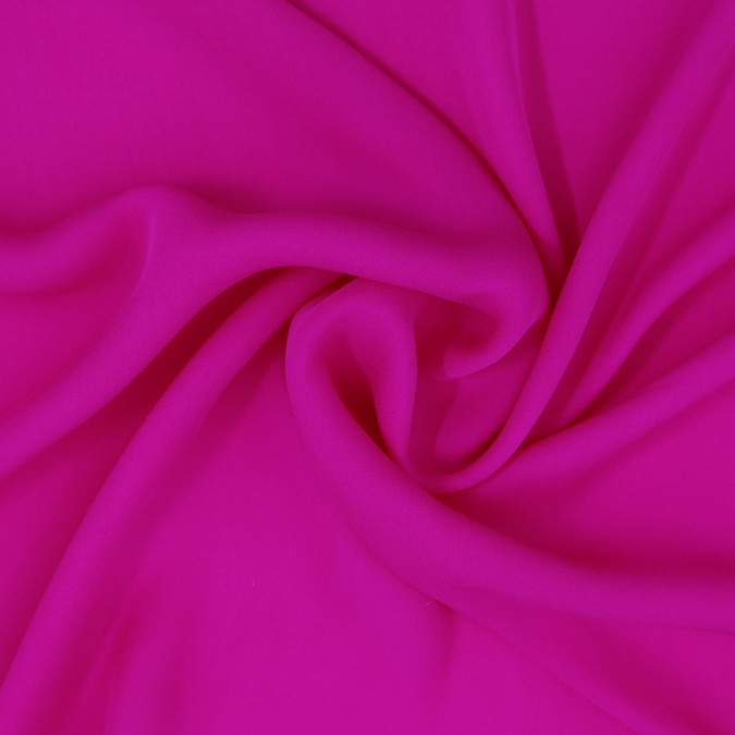 fuchsia silk double georgette 307186 11