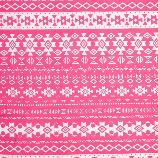 fuchsia white tribal ethnic printed rayon challis 307022 11