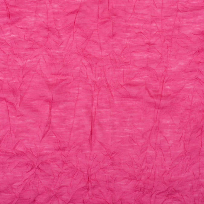 fuchsia wrinkled lightweight polyester jersey 109103 11