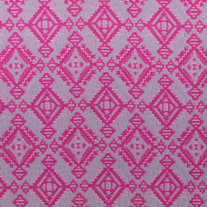fucshia grey geometric brocade 311773 11