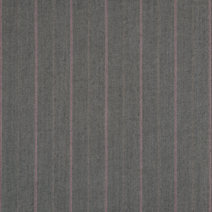gargoyle cashmere rose striped herringbone stretch polyester suiting 310767 11