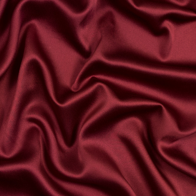 garnet red crepe back satin 317383 11