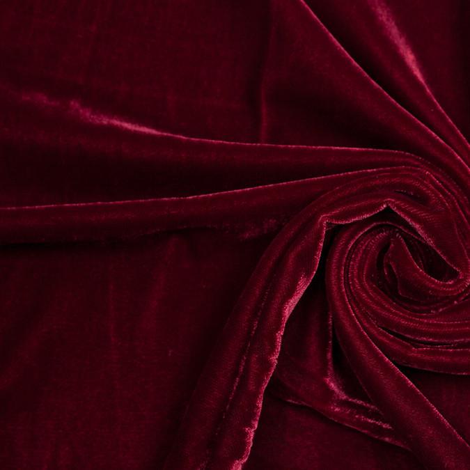 garnet solid polyester micro velvet 307164 11