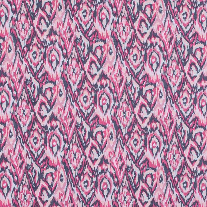 geranium and excalibur ikat printed stretch cotton twill 314634 11