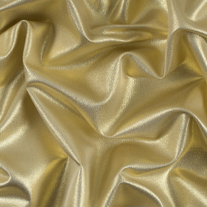 gold white metallic polyester lame 311053 11