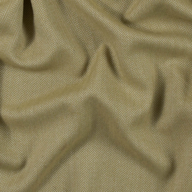 golden olive and white herringbone polyester suiting 313392 11