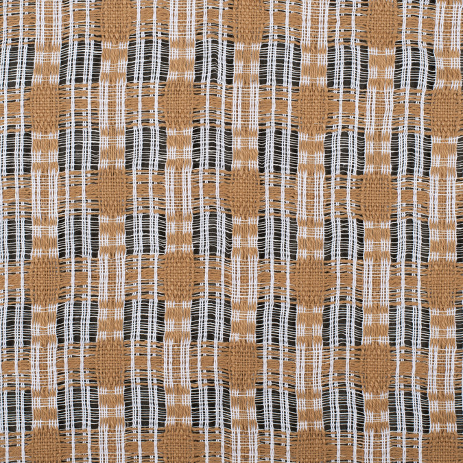 goldstone white open weave checked cotton woven 308228 11