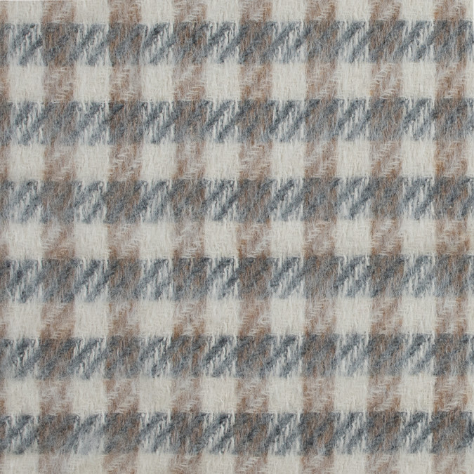 gray beige and tan checkered mohair coating 317886 11