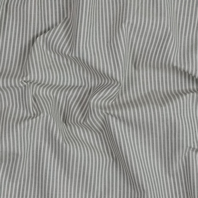 gray and ivory striped japanese cotton shirting 318871 11