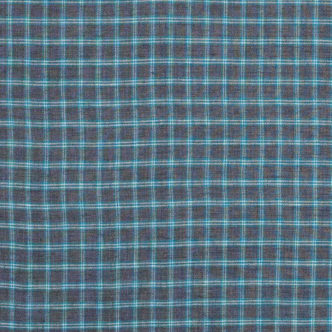 gray and turquoise plaid cotton twill 317133 11