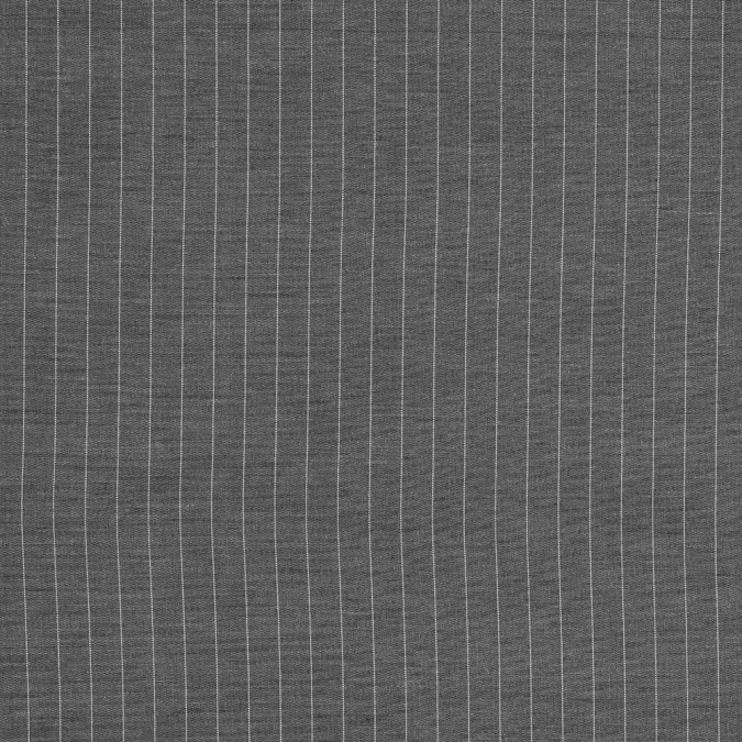 gray and white pinstriped wool shirting 318141 11