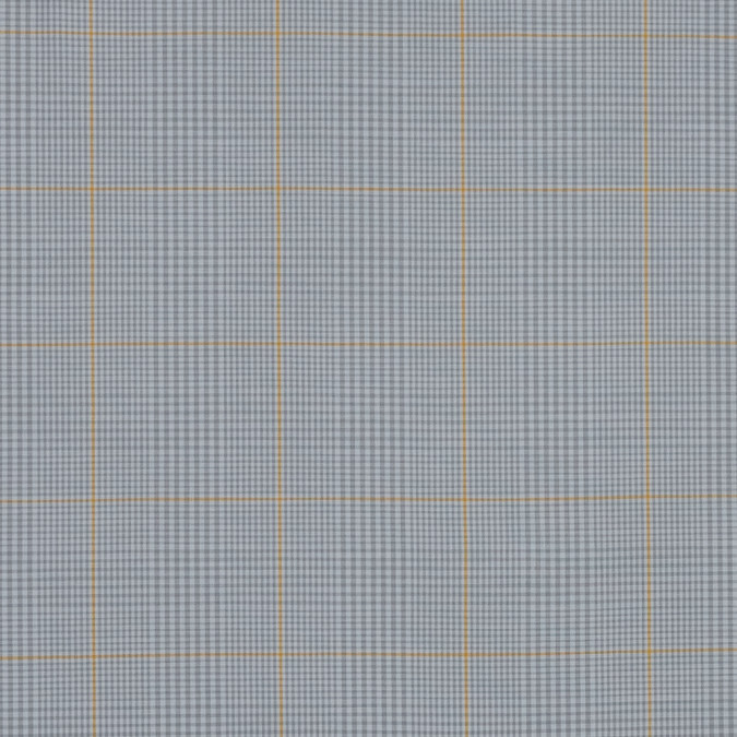 gray and yellow plaid cotton shirting 318795 11