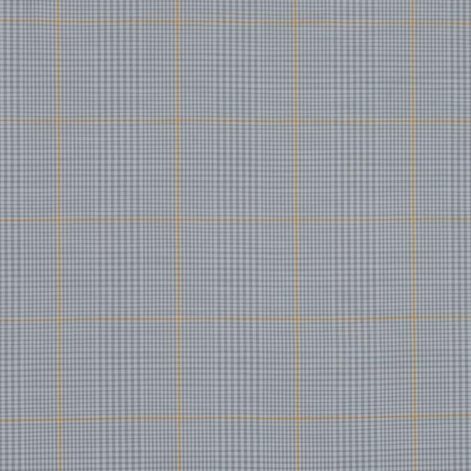 gray and yellow plaid cotton shirting 318795 11