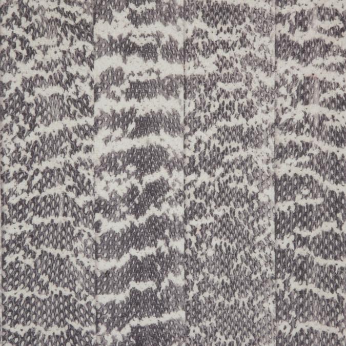 gray beige python printed polyester chiffon 310006 11