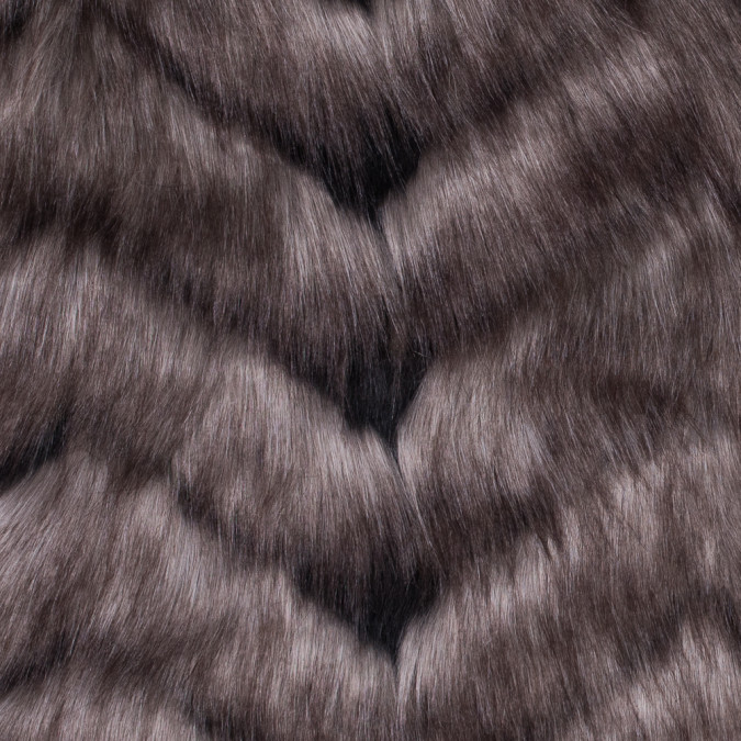 gray herringbone faux fur 116577 11