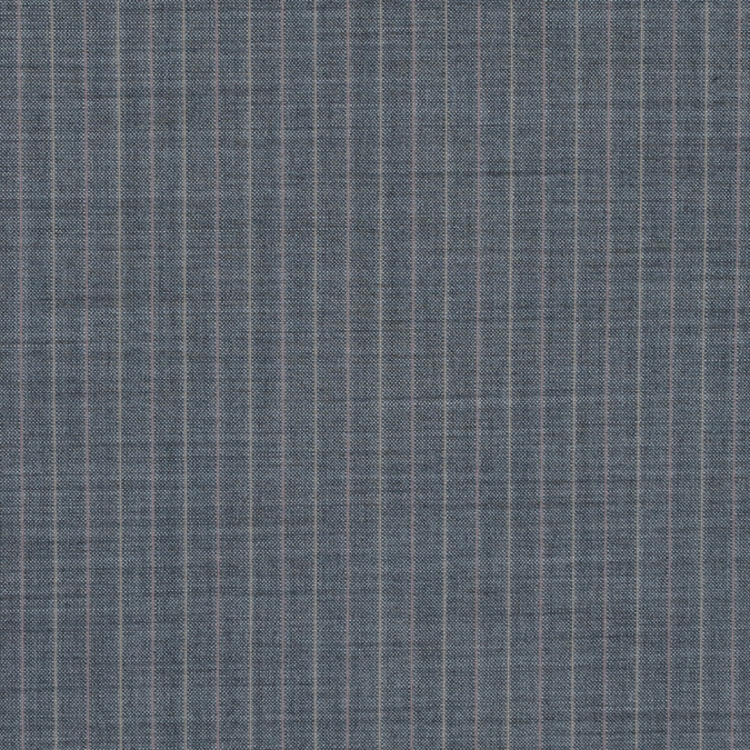 gray pinstriped stretch wool suiting 310076 11