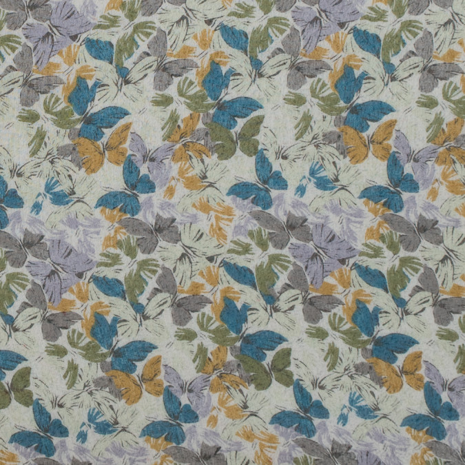 green and blue butterfly printed crinkled chiffon 312251 11