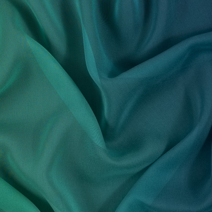 green and blue ombre silk chiffon 314016 11