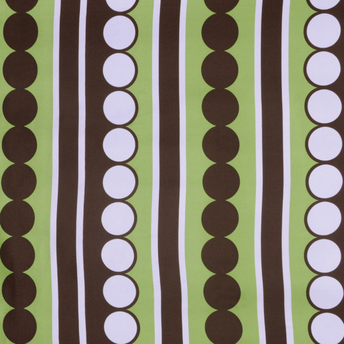 green and brown geometric silk twill 302128 11