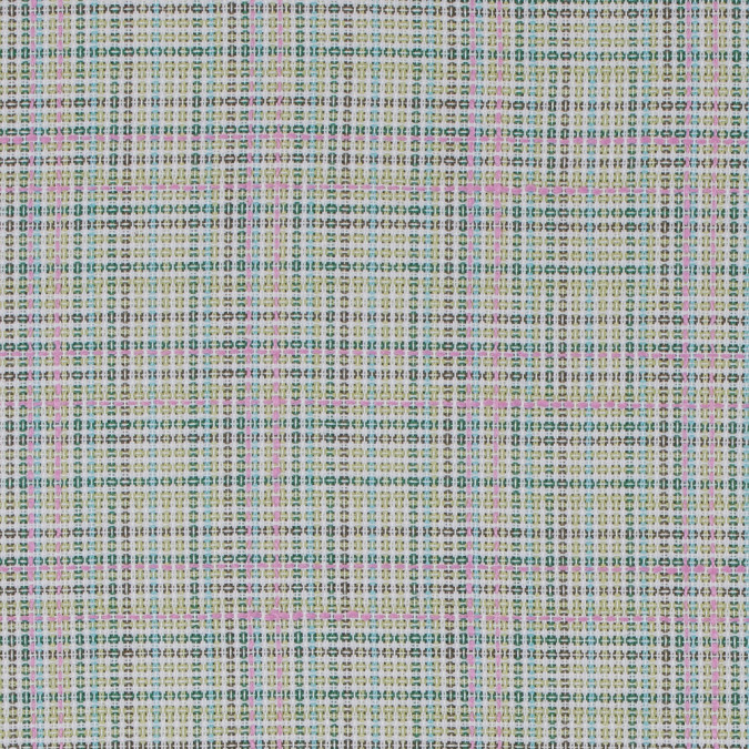 green and pink plaid cotton tweed 311947 11