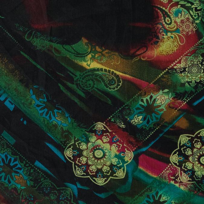 green and red paisley printed silk organza 315943 11