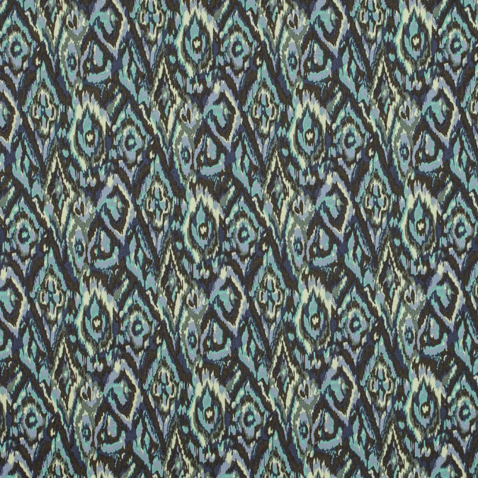green ash and tender yellow ikat printed stretch cotton twill 314633 11