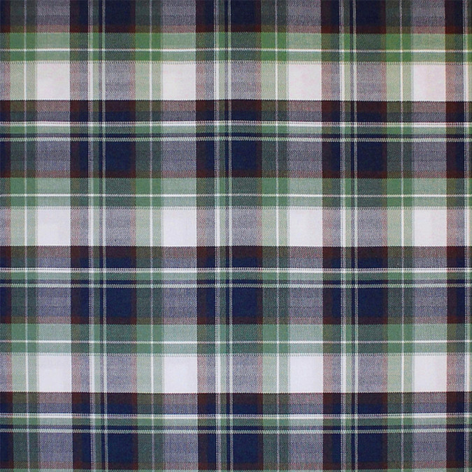 green blue brown white plaid cotton flannel 308635 11