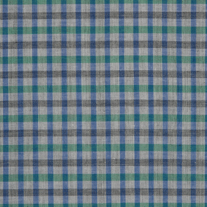 green blue gray gingham cotton shirting 309720 11
