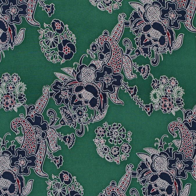 green floral stretch silk crepe de chine 317986 11