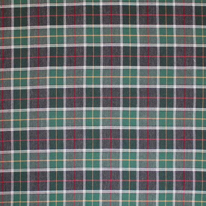 green gray tartan plaid flannelled cotton shirting 308622 11