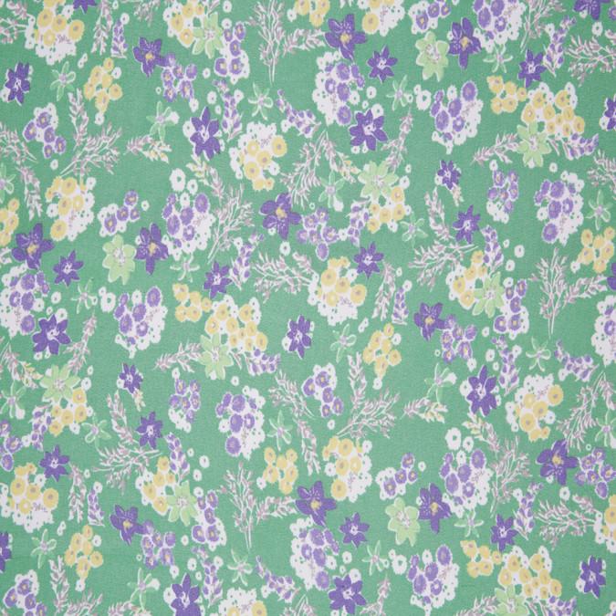 green yellow blue floral silk chiffon 306881 11