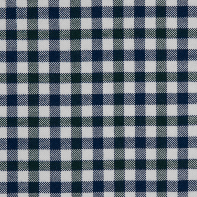 greener pastures white twighlight blue gingham plaid cotton tencel double sided brushed flannel 309460 11