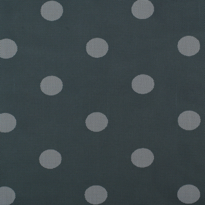 grey white polka dot polyester netting mesh 308939 11